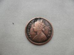 INDIA BRITANICA R. VICTORIA 1/4 DE ANNA 1876 B EBC - Colonias