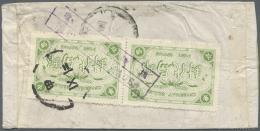 "China: 1933, SYS 5 C. Tied ""TSINGTIEN 24.11.11"" (Nov. 11, 1935) To Cover To Shanghai, On Reverse Pair Of Repair Seal Tie"