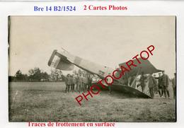 AVION Abattu-Breguet 14B2/1524-NON SITUEE-2x CARTES PHOTOS Allemandes-Guerre-14-18-1 WK-Militaria-Aviation-Fliegerei- - 1914-1918: 1ère Guerre