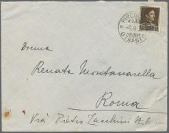 Albanien: 1931 (6.8.), König Zogu 15 Q. Braun Einzelfrankatur Von Durazzo (Absender) Entwertet Mit Ital. Schiffspos - Albania