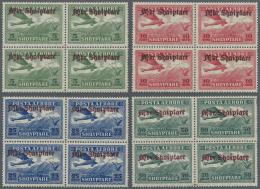 Albanien: 1929, Flugpost Mit Aufdruck, Kompletter, Postfrischer 4er-Block-Satz, Toperhaltung, Im 4-er-Block Sehr Selten! - Albania