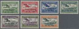 Albanien: 1928, 5 Q. Bis 3 Fr., Kompl. Flugpost-Satz (7 Werte) Ungebraucht Mit Falz, Mi. F. Postfrisch 450,- - Albania