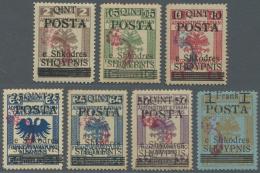 Albanien: 1919, Stempelmarken Der österr. Landesverwaltung Als Freimarken Kompletter Satz Mit Kontrollaufdruck II I - Albania