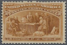 Vereinigte Staaten Von Amerika: 1893, 30c. Orange Brown Mint No Gum, Fine - United States