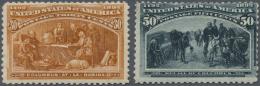 Vereinigte Staaten Von Amerika: 1893, Columbus, 30c. Orange Brown And 50c. Slate, Two Values, Fresh Colours, Mint O.g., - United States