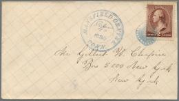 Vereinigte Staaten Von Amerika: 1885-86, Zwei Frank. Belege Je Mit DKr. MANSFIELD CENTRE Und Hs. Datumsangabe Sowie Die - United States