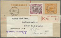 Papua: 1926 (23.2.), Registered Letter Lakatoi 4d Orange Uprated With Lakatoi 2d Purple/lake Used With Unsealed Flap Fro - Papua New Guinea