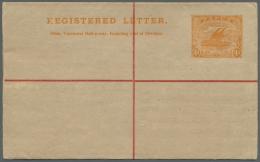 Papua: 1917, 4d. R-Ganzsachen-Umschlag Ungebraucht, Leichte Spuren. - Papua New Guinea