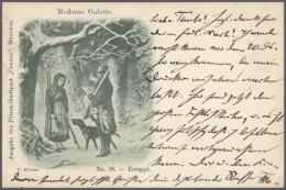 Thematik: Tiere-Hunde / Animals-dogs: MÜNCHEN: Deutsche Privatpost-Stadtpost 1899/1901: 6 Pfg Kindl Courier, Bildpo - Dogs