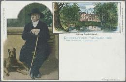 """Thematik: Tiere-Hunde / Animals-dogs: 1897, Dt. Reich. Privat-Postkarte 5 Pf Ziffer """"Gruss Aus Der Philharmonie Vom Bism - Dogs"""
