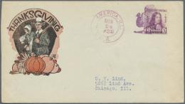 Thematik: Tiere-Hühnervögel / Animals-gallinaceus Birds: 1932, USA. Fancy Cancel TURKEY On Thanksgiving Cover - Gallinaceans & Pheasants