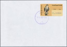 Thematik: Tiere-Greifvögel / Animals-birds Of Prey: 2001, Automatenmarke Jagdfalke 0,20 DH Auf Blanco-FDC  Mit Viol - Eagles & Birds Of Prey
