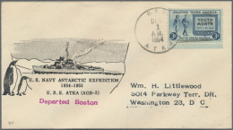 Thematik: Antarktis / Antarctic: 1954/55, U.S. NAVY ANTARCTIC EXPEDITION In Context Of Geophysical Year. A Documentation - Polar Philately