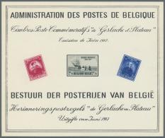 """Thematik: Antarktis / Antarctic: BELGIEN: 1947, Sonderblatt Zur """"Antarktis-Expediton Von 1897"""" Mit U.a. De Gerlache Und - Polar Philately"""