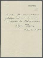 Thematik: Antarktis / Antarctic: 1932, Dt. Reich. Eigenh. Briefbogen Mit Unterschrift Von Dr. W. Filchner, Leiter Der 2. - Polar Philately