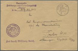 """Thematik: Antarktis / Antarctic: 1927, DMSP. Ablösebrief Mit Vs. L4 """"Kommando / Forschungs- Und Vermessungsschiff / - Polar Philately"""