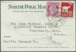 "Thematik: Antarktis / Antarctic: 1925-34, US Card 1934 ""LITTLE AMERICA ANTARCTICA JAN/30/1934"" Violet Boxed ""GREETINGS F - Polar Philately"