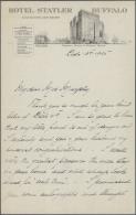 "Thematik: Antarktis / Antarctic: 1925, ROALD AMUNDSEN, Handwritten Letter (Dec 13th) On Illustrated Lettersheet Of ""Hote - Polar Philately"