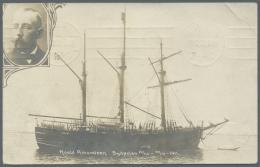 "Thematik: Antarktis / Antarctic: 1912, Photo Card ""Roald Amundsen Sydpolen 14.12.-17.12.1911, Used From ""KRISTIANIA 11.V - Polar Philately"