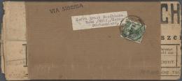 """China - Provinzausgaben - Mandschurei (1927/29): 1927, 2 C. Light Green Tied """"HARBIN 4.2.30"""" To Complete Wrapper To Wahn - Manchuria 1927-33"""