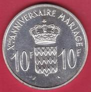 Monaco - Rainier III - 10 Francs Argent - Xe Anniversaire De Mariage - 1966 - FDC - Monaco