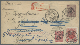 Russland - Ganzsachen: 1914, Envelope 3 K./5 K. Uprated Romanov 3 K., 1 K. And Definitives 3 K., 2 K., 1 K. (block-4) An