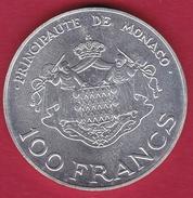 Monaco -100 Francs Argent - Rainier III & Albert - 1982 - 1960-2001 New Francs