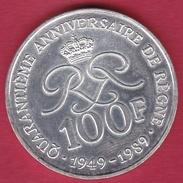 Monaco -100 Francs Argent - Rainier III - 1989 - 1960-2001 New Francs