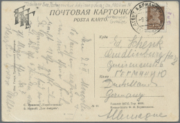 """Russland: 1929, 7 K. Tied """"AGENT. ADRIANOVKA -2 3 29"""" To Ppc """"S. Ivanov - The Emigrees"""" To Quedlinburg/Germany. Adrianov"""