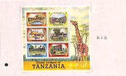 Tanzanie 1978 - BL13, Petit Lot Sur Feuille, Réserves D'animaux - Tanzanie (1964-...)