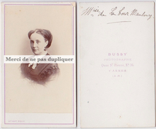 CDV Marquise ANNE DE LA TOUR MAUBOURG, Dame D'honneur Impératrice Eugénie. TRÉVISE. Saint Maurice Lignon Glareins Cannes - Photographs