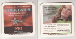 Werbebierdeckel , Stardust Bar , Cocktails , Main Taunus  - Abele , Optik - Bierdeckel