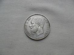 BÉLGICA  5 FRANCOS PLATA 1876   EBC KM#24 - 09. 5 Franchi