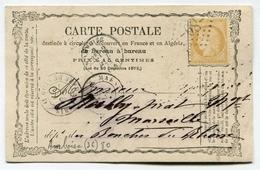 !!! CARTE PRECURSEUR CERES CACHET D´AMBOISE ( INDRE ET LOIRE ) 1873 - Precursor Cards