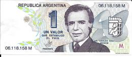 "UN VALOR QUE ESTABILIZO AL PAIS REPUBLICA ARGENTINA DR. CARLOS SAUL MENEM PARTIDO JUSTICIALISTA NACIONAL 1989-1995 ""MENE - Plaques Publicitaires"