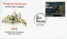 Monaco 2016 FDC Ballet Of Monte Carlo Jean-Cristophe Maillot 1v Cover Stamps - Ohne Zuordnung