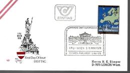 AUTRICHE    FDC    1978  Securité Européenne Carte - Europese Instellingen