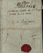 Paris Port Payé 60 PP Et Port Payé 41 Mm Taxe Manuscrite Au Dos 8 Barré 7 Et 8 Cachet Cire Marque Postale - 1701-1800: Precursors XVIII