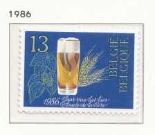 D- [2230] Belgique 1986, Année De La Bière Belge, Orge Et Houblon, SNC
