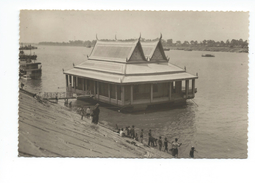Indochine Cambodge Kampuchéa Phnom Penh La Maison Flottante CP Un Peu Vrillée Bien Ecrite Colonies Françaises - Cambodia