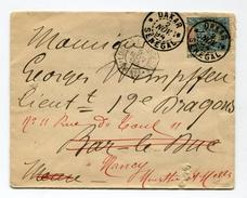 !!! SENEGAL : LETTRE DE DAKAR POUR LA FRANCE DE 1894 CACHET MARITIME LOANGA A MARSEILLE LN1 - Marcophilie (Lettres)