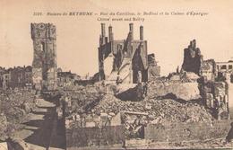Ruines De Bethune Rue Du Carillon Le Beffroi Et La Caisse D'epargne - Guerre 1914-18