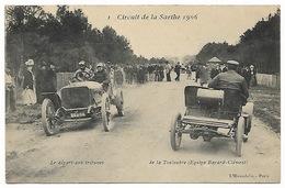 Circuit De La Sarthe 1906  Le Départ Aux Tribunes - De La Touloubre (équipage BAYARD-CLEMENT) - Automovilismo
