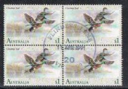 Australia SG1282 1991 Waterbirds $1 Good/fine Used Block Of 4 [9/11360/6D]
