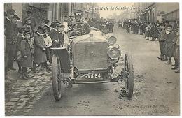 Circuit De La Sarthe 1906  Bouloire (l'entrée) - De La Touloubre (équipage BAYARD-CLEMENT) - Automovilismo