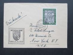 BRD 1951 Nr. 139 Bedarfsbeleg. Marienkirche EF. Drucksache Peinelt Mühlheim - Ruhr. Geprüft Schlegel BPP - Briefe U. Dokumente
