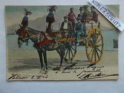 Tipi Siciliani, Carretto, Pferdegespann, Gel. 1903 - Italie