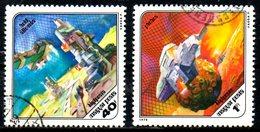 HONGRIE. 2 PA Oblitérés De 1978. Science-fiction Dans La Recherche Spatiale.