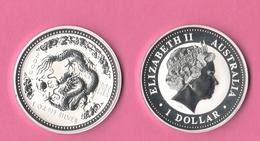 Australia 2000 Dollar Ounce Oncia OZ Dragon Year Chinese Zodiac - Decimal Coinage (1966-...)