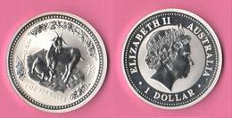 Australia 2003 Dollar Ounce Oncia OZ GOAT Year Chinese Zodiac - Decimal Coinage (1966-...)